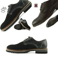 Mens Formal Shoes Genuine Leather LaceUp Suede Party Wedding Smart office Casual