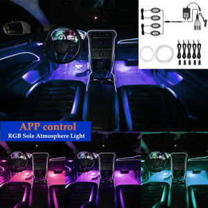 Car Auto One For Nine Cold Light Remote Control RGB Sole Atmosphere Light Kit