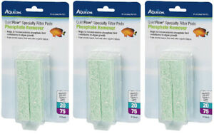 (3 Pack) Aqueon QuietFlow Phosphate Remover Filter Pads, size 20/75 - 4 Per Pack