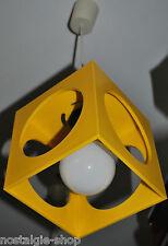 70er  Original Deckenlampe Hängelampe Designerlampe  Lamp 70er gelb