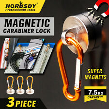 Heavy Duty Camping Carabiner Keychain Magnet Set Spring Belt Clip Free Shipping