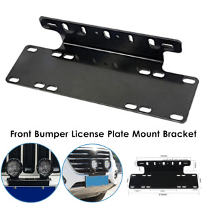 Universal Heavy Duty Front Bumper License Plate Mount Bracket For LED Light Bar
