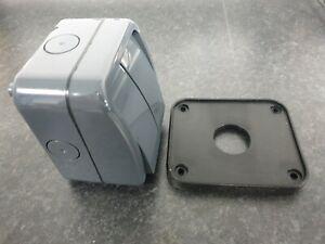 Scolmore IP65 2 Gang Waterproof Switch Enclosure (Grey) - NEW