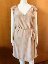 Witchery-Pebble Print Silk Shift Dress-Size 10