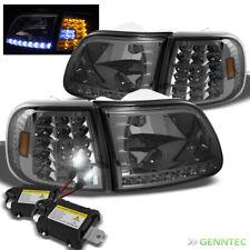 For 8000K Slim Xenon HID Kit+97-03 Ford F150 Smk LED Headlight+Corner Lights