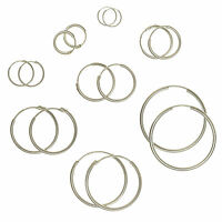 925 Sterling Silver Hoop Sleeper Earrings & Sets | Small - Large