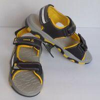 Kamik Boys Size 3 Youth Flounder Sandals Black Yellow Shoes New