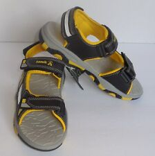 Kamik Boys Size 5 Youth Flounder Sandals Black Yellow Shoes New