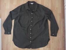 Boden Ladies Linen Shirt, Long Sleeve, Dark Green, Size 18