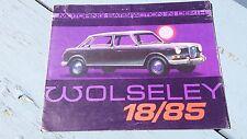 1967 Wolseley 18/85 UK England Car Dealership Sales Brochure