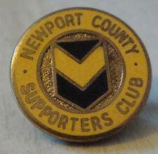 Newport County FC Vintage Supporters Club badge broche épingle en doré 20 mm Dia