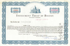 Investment Trust of Boston > MA stock certificate share