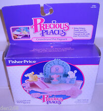 #8210 Nrfb Vintage Fisher Price Precious Places Grandstand Pet Pageant