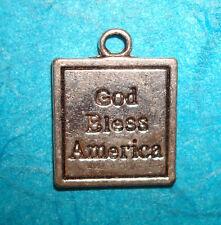Patriotic Charm Religious Military Charm God Bless America USA Charm Free Ship