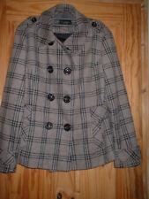16 Dark Beige, Black Check Short Length Jacket