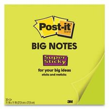 Post-it Notes Super Sticky Big Notes, 11 x 11, Green, 30 Sheets/Pad (Mmmbn11G)
