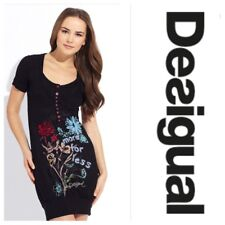 Desigual More for Less Dress Tunic Size M Approx 8 UK Sequins Short Sleeve