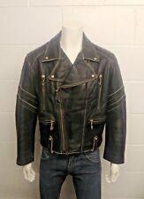 Diesel Vintage 100% Leather Jacket. Flying Couger DMB - 35RB 06107 Size Large