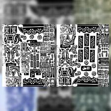 5 Stück XXL Henna Schablone Vorlage Tattoo Stencils Hände Arme Fuß Rücke Airbrus