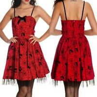 SPIDER FLOCKED MINI DRESS HELL BUNNY ALTERNATIVE GOTHIC MARY JANE