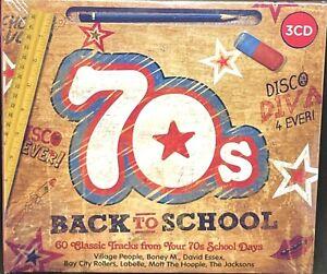 70s BACK TO SCHOOL - VARIOUS, TRIPLE CD ALBUM DIGIPAK, (2018) NEW / SEALED