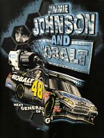 Nascar Jimmie Johnson And Cobalt CHASE AUTHENTICS Mens Black 2XL Very Nice