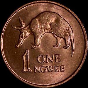 ZAMBIA 1 Ngwee, 1983, Kaunda - Aardvark