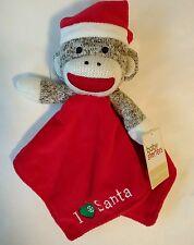 Baby Starters Sock Monkey Christmas Plush Lovey Rattle