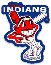 Cleveland Indians Vintage Chief Wahoo at Bat Die-Cut Magnet