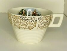 Sebring Pottery Tea Cup 1940's Ivory Coffee Beverage Chantilly Gold Filigree