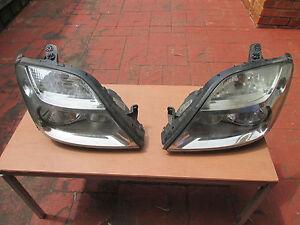 Renault Scenic Head Lights (pair) headlight 1999 - 2003 black surround