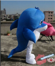 Advertising Dolphin Mascot Costume Festival Xmas party game dress Free shipping