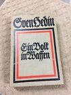 Ein Volk in Waffen Gven Hedin Barbas Ypres Stenay- HARDCOVER BOOK- GERMAN- LOOK