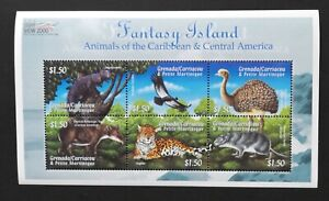 Grenada -Animals of The Caribbean-1 M/Sh-MNH-GG 009