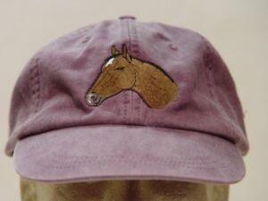 THOROUGHBRED HORSE HAT WOMEN MEN ADAMS BASEBALL CAP Price Embroidery Apparel