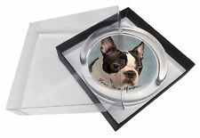 Boston Terrier Dog 'Love You Mum' Glass Paperweight in Gift Box Chr, AD-BT8lymPW