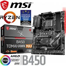 MSI B450 Tomahawk MAX Ryzen AMD Gaming ATX AM4 Motherboard DDR4 Turbo M.2 Type C