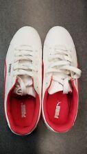 Puma Unisex Myndy SL White-White-Geranium UK 4