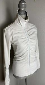 Lululemon Raja Reversible Mesh Nylon Jacket Solid White, Size 2-4