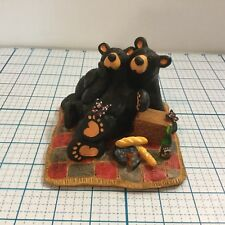 "BEARFOOTS ""Butterfly Picnic"" Sculpture by BIG SKY CARVERS -  NEW"