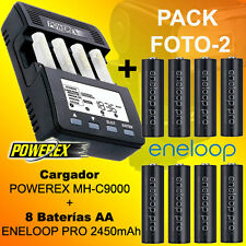 Pack OFERTA FOTO 2 - Cargador POWEREX MH-C9000 + 8 Baterías Eneloop PRO 2500mAh