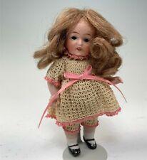 "Antique 5"" German All-Bisque Swivel Neck #602 Doll"