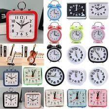 Retro Quartz Movement Alarm Clock Bedside Desktop Time Display Bedroom Decor Us