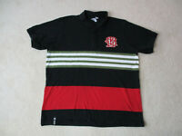 Lifted Research Group LRG Polo Shirt Adult 2XL XXL Black Red Spell Out Mens *