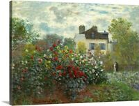 The Artist's Garden in Argenteuil, by Canvas Wall Art Print, Floral Home Decor