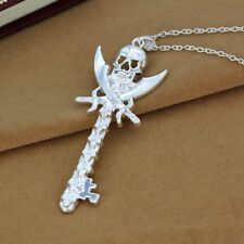 Skull Gifts Necklace Pendant Punk Plated Wholesale Silver Key Shape Party