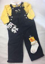 Girl's 4 Set GYMBOREE NAVY BLUE Daisy 1 Piece YELLOW Top Socks Hair Bows 18-24