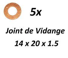 5x JOINT DE VIDANGE 14x20x1.5 PEUGEOT 406 Coupé (8C) 2.2 158ch