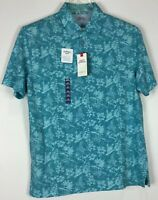 Mens Izod Saltwater Polo Shirt Medium Relaxed Short Sleeve NWT Cotton Floral