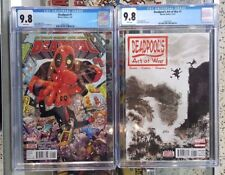 Set of 2 Deadpool #1 (2016) CGC 9.8 + Deadpool Art of War #1 CGC 9.8